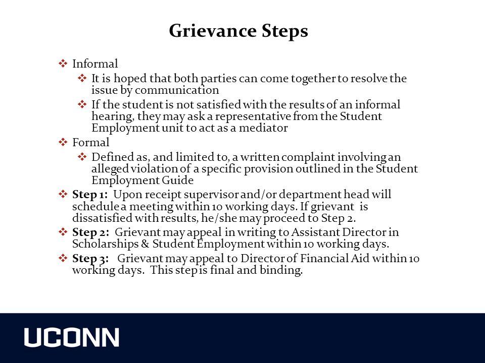 Grievance Steps Informal