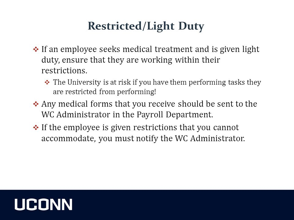 Restricted/Light Duty
