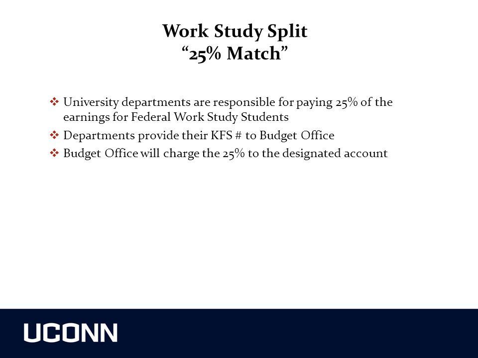 Work Study Split 25% Match