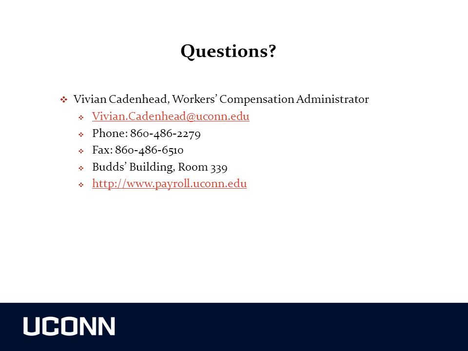 Questions Vivian Cadenhead, Workers' Compensation Administrator