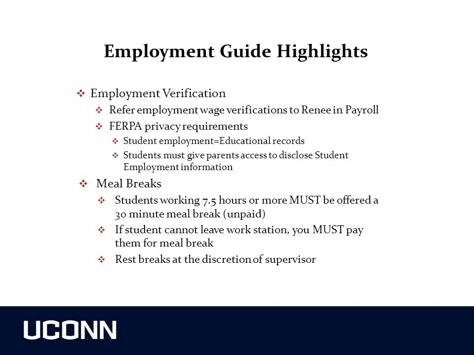 Employment Guide Highlights