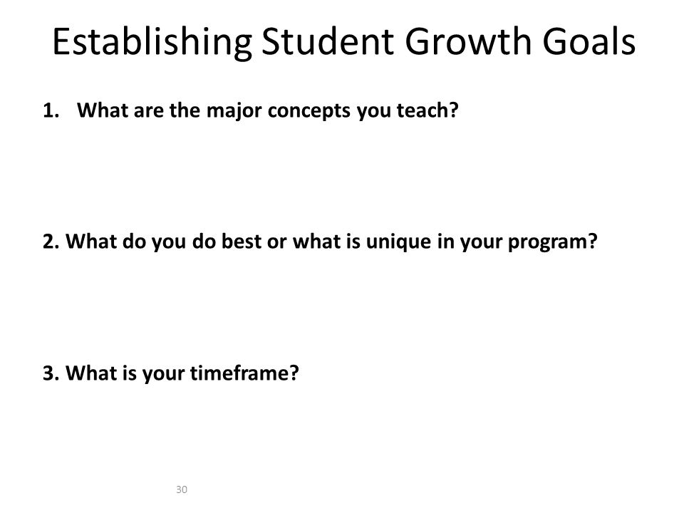Establishing Student Growth Goals