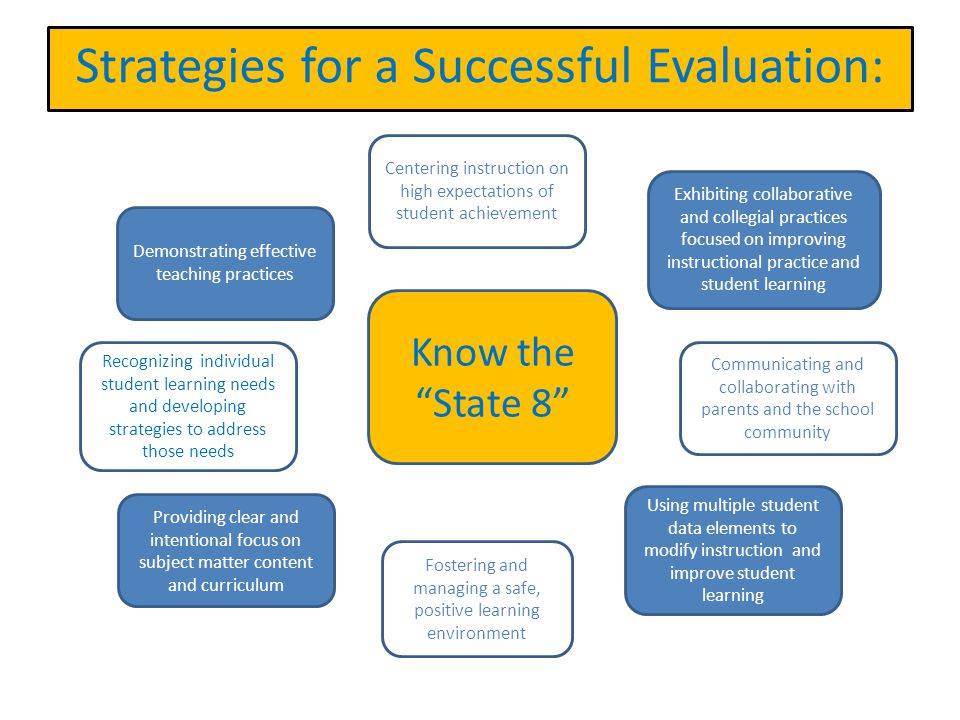 Strategies for a Successful Evaluation: