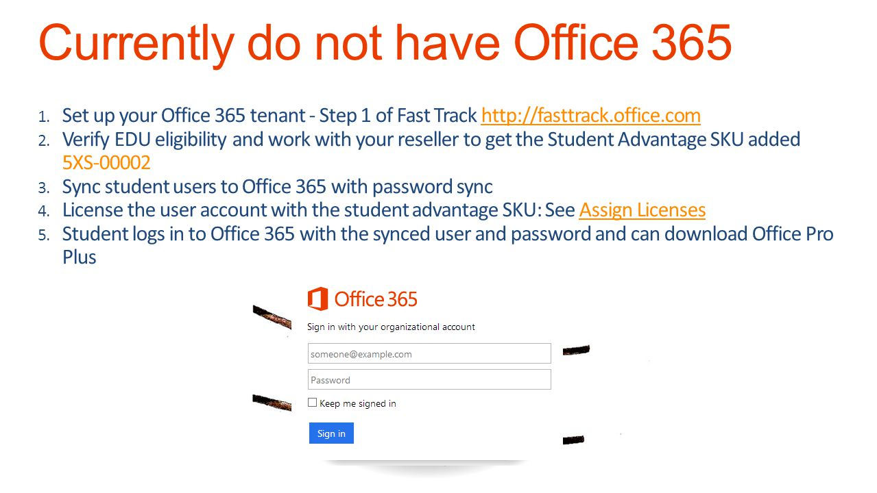 Currently do not have Office 365