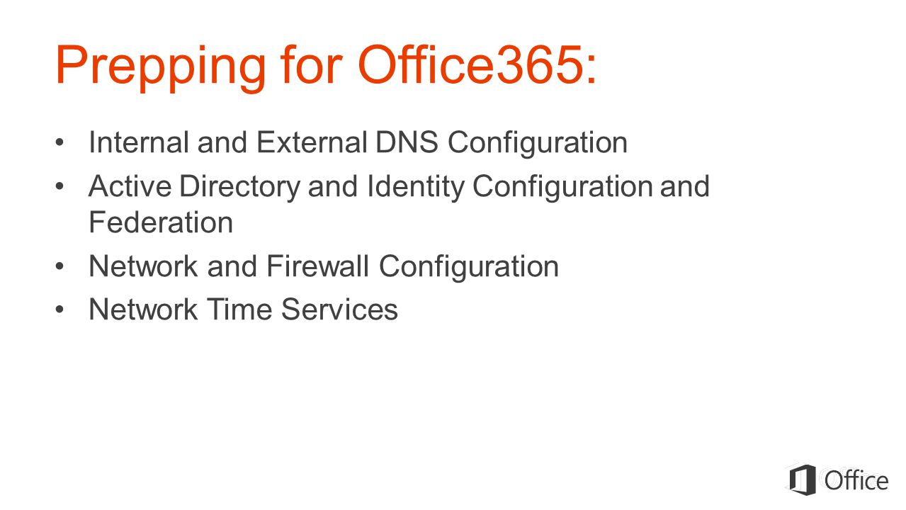 Prepping for Office365: Internal and External DNS Configuration