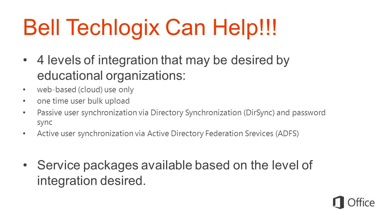 Bell Techlogix Can Help!!!