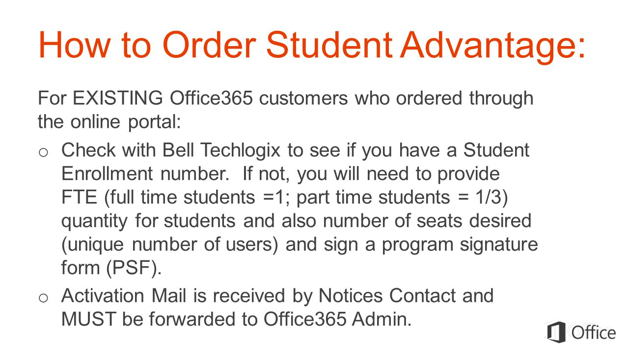 How to Order Student Advantage: