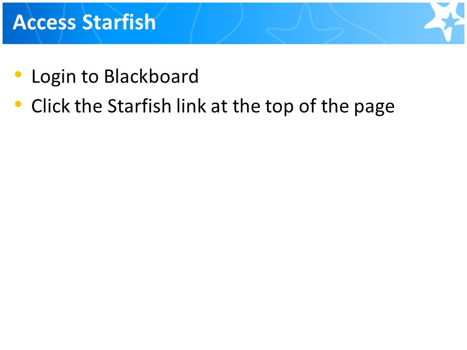 Access Starfish Login to Blackboard