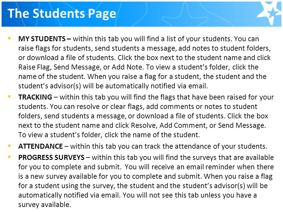 The Students Page