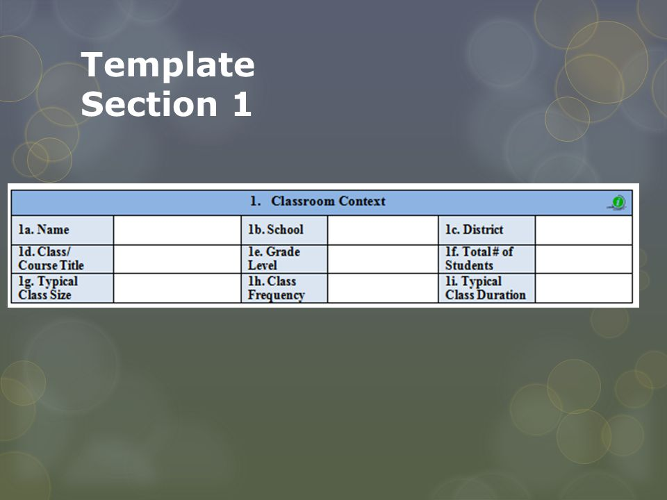 Template Section 1