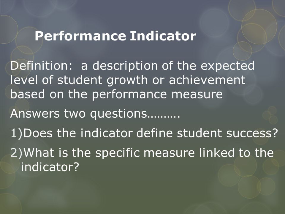 Performance Indicator