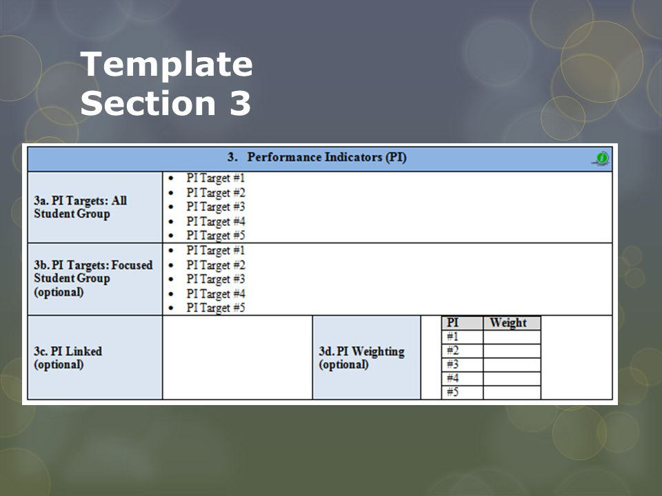 Template Section 3