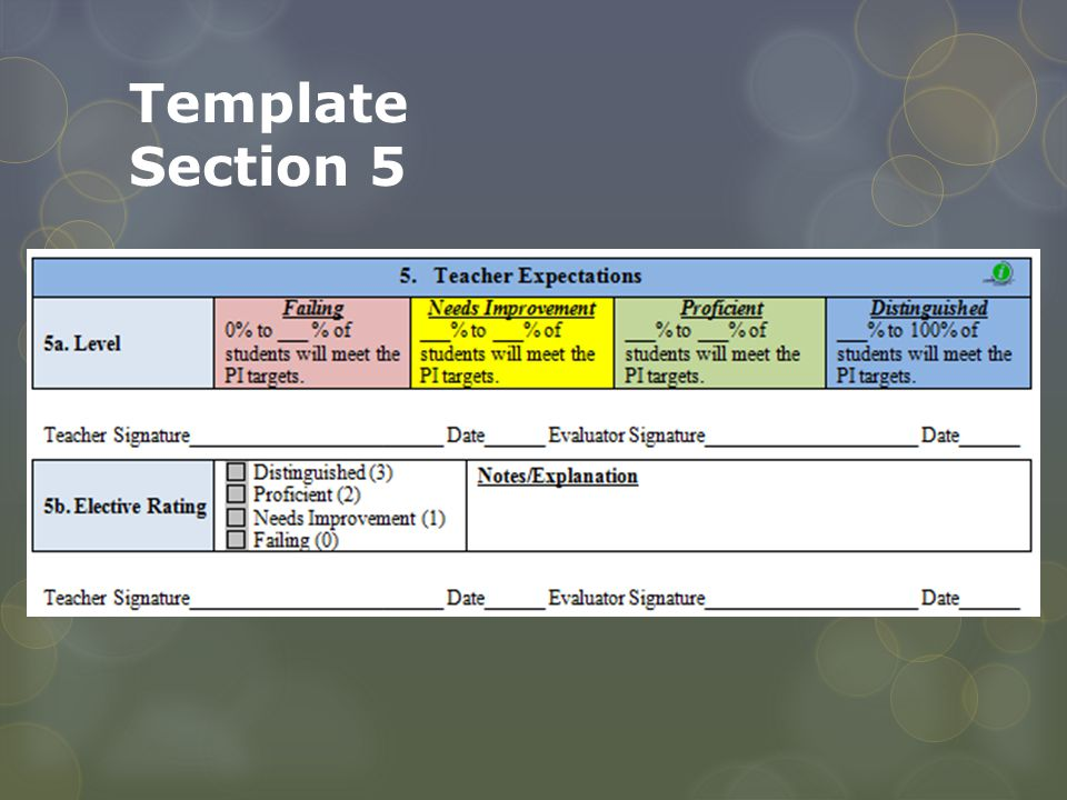 Template Section 5