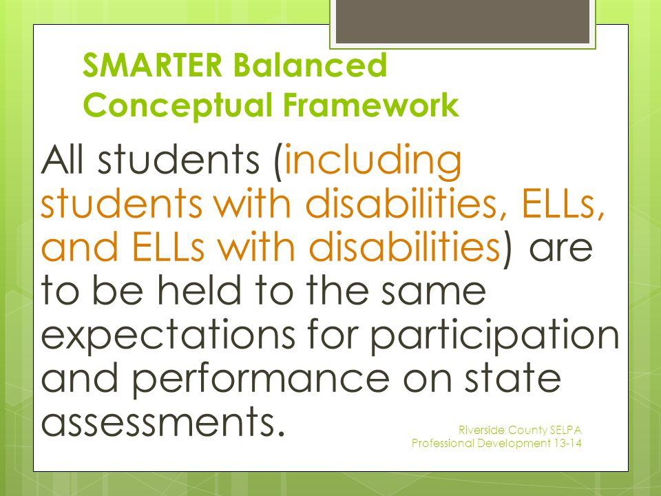 SMARTER Balanced Conceptual Framework