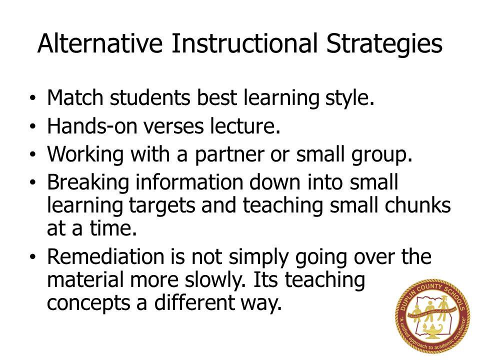 Alternative Instructional Strategies