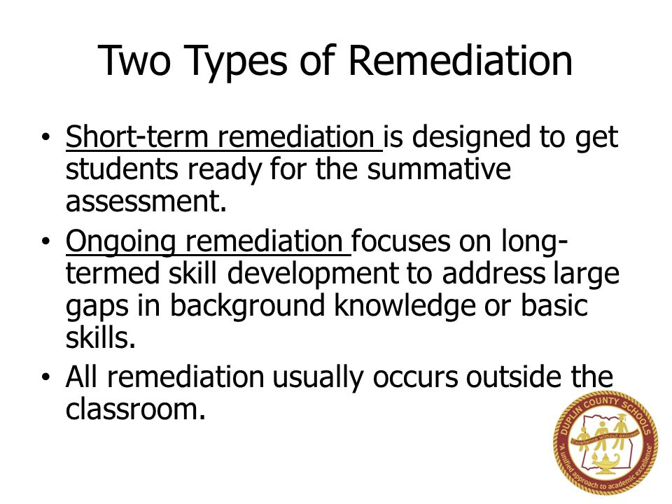 Two Types of Remediation
