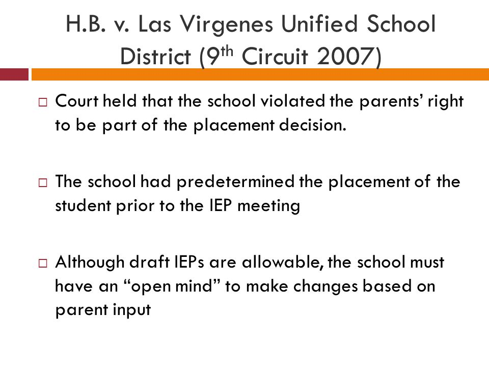 H.B. v. Las Virgenes Unified School District (9th Circuit 2007)