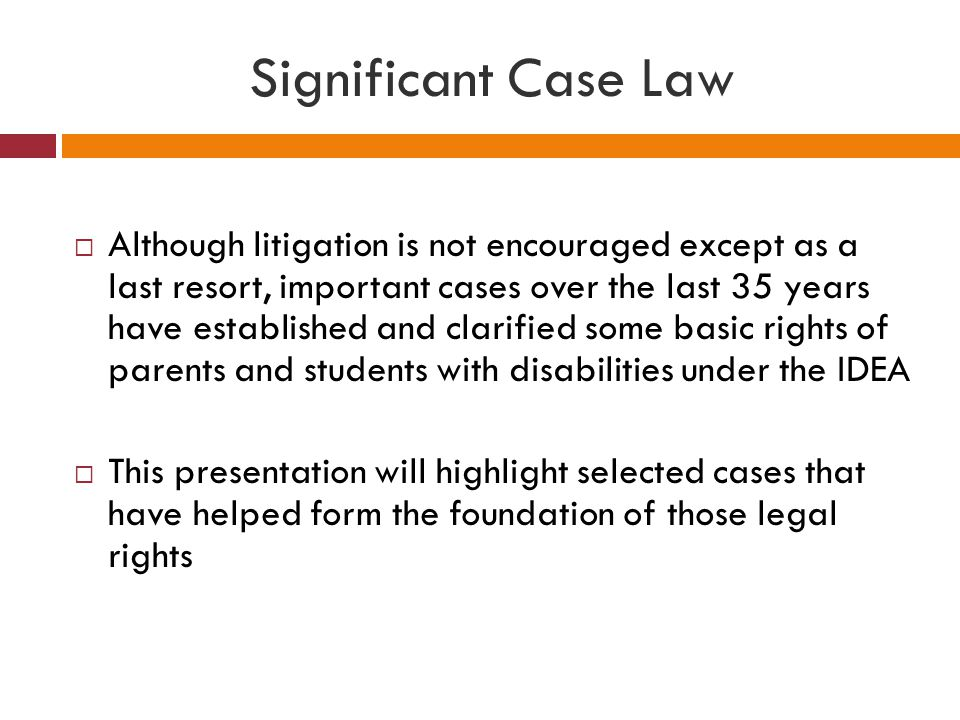 Significant Case Law