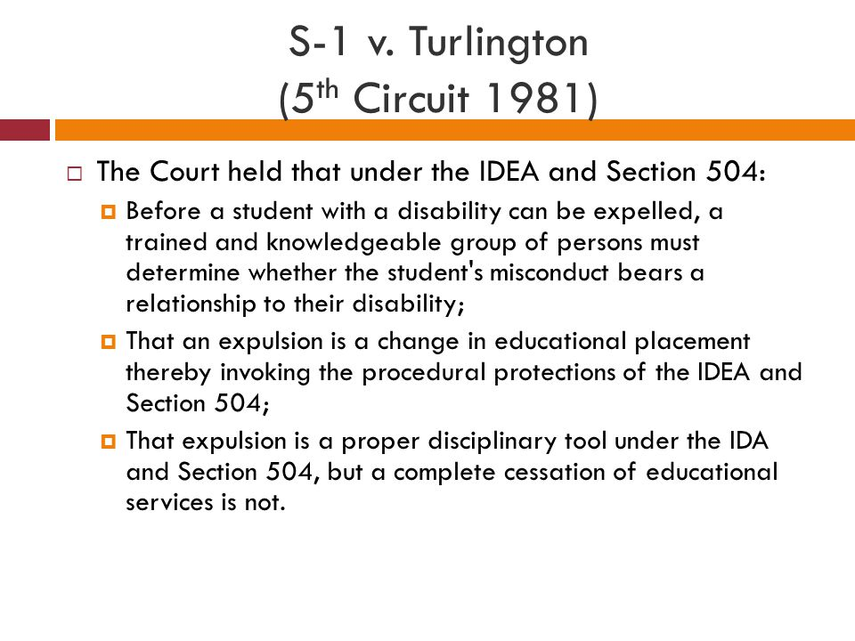 S-1 v. Turlington (5th Circuit 1981)