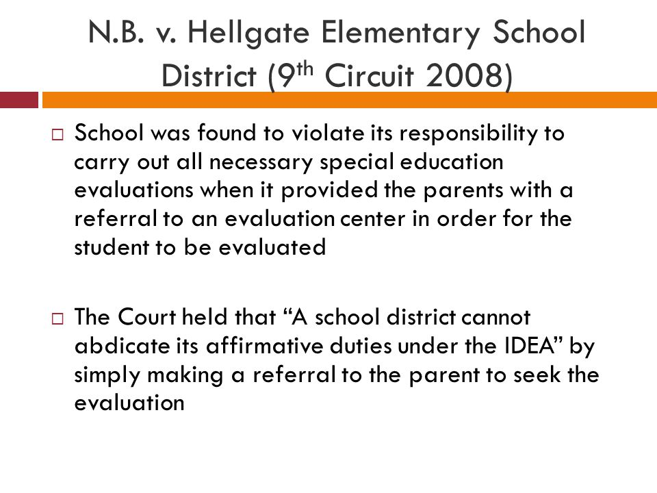 N.B. v. Hellgate Elementary School District (9th Circuit 2008)