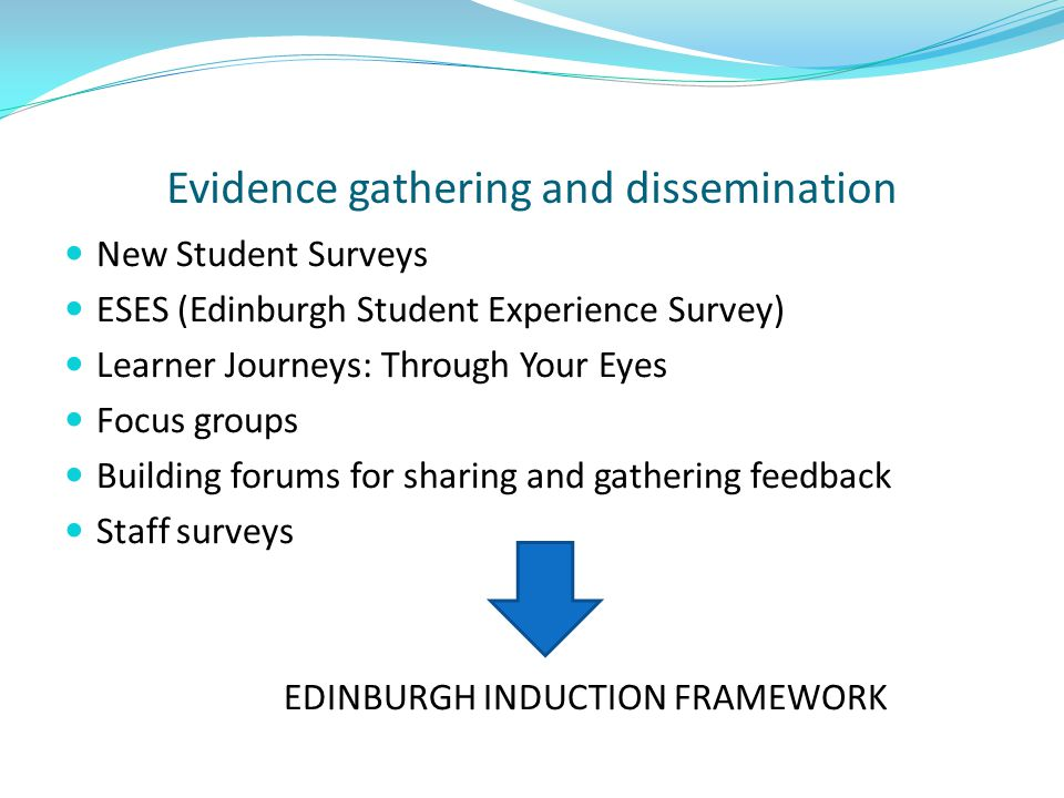 Evidence gathering and dissemination