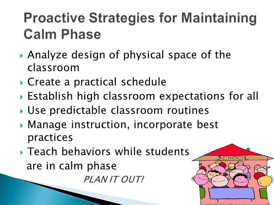 Proactive Strategies for Maintaining Calm Phase