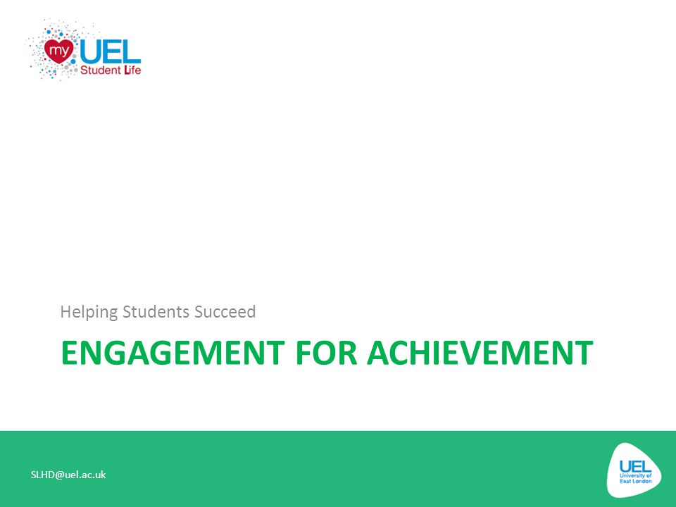 Engagement for achievement