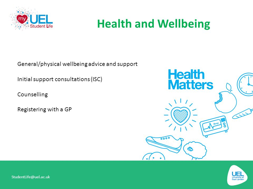 Health and Wellbeing General/physical wellbeing advice and support