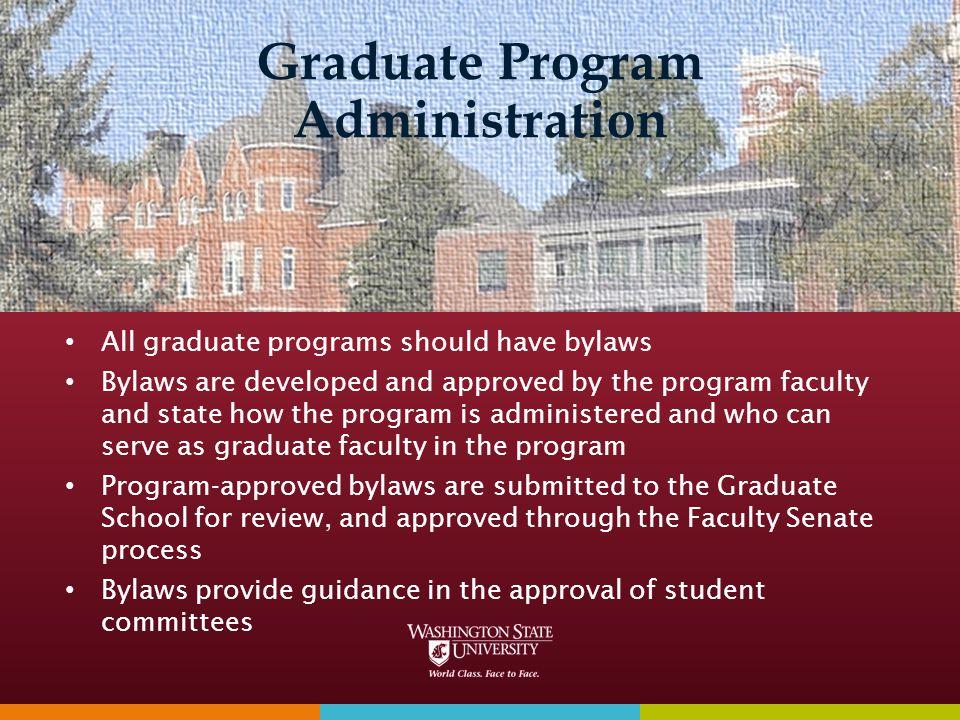Graduate Program Administration