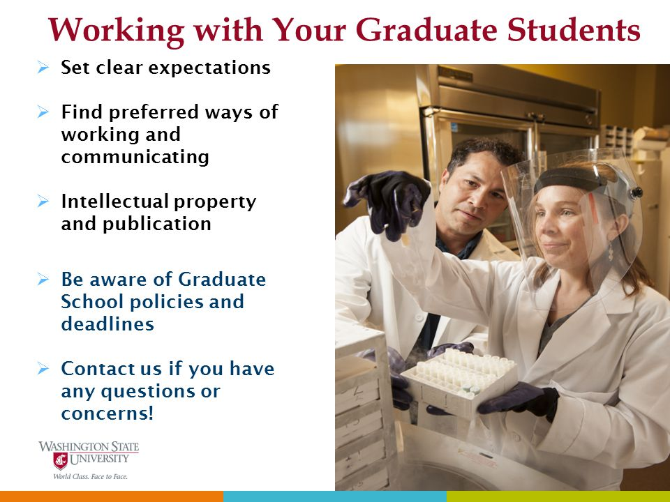 Working with Your Graduate Students
