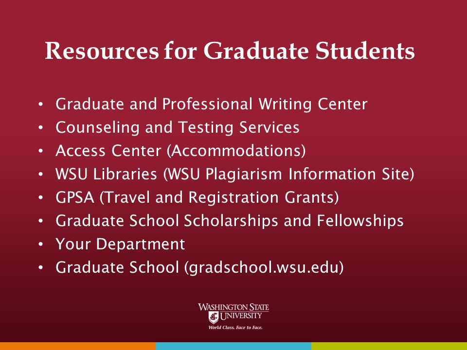 Resources for Graduate Students