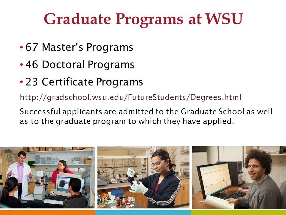 Graduate Programs at WSU