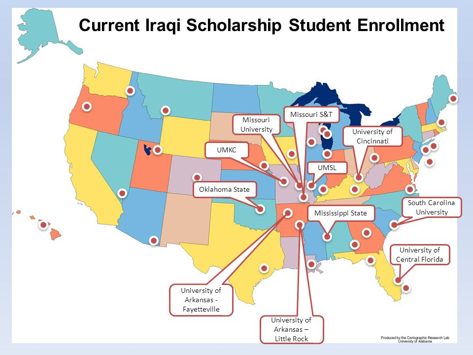 Current Iraqi Scholarship Student Enrollment