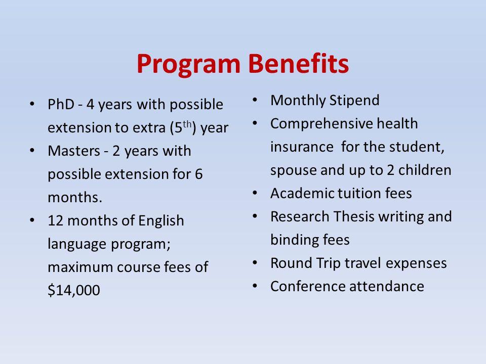 Program Benefits Monthly Stipend