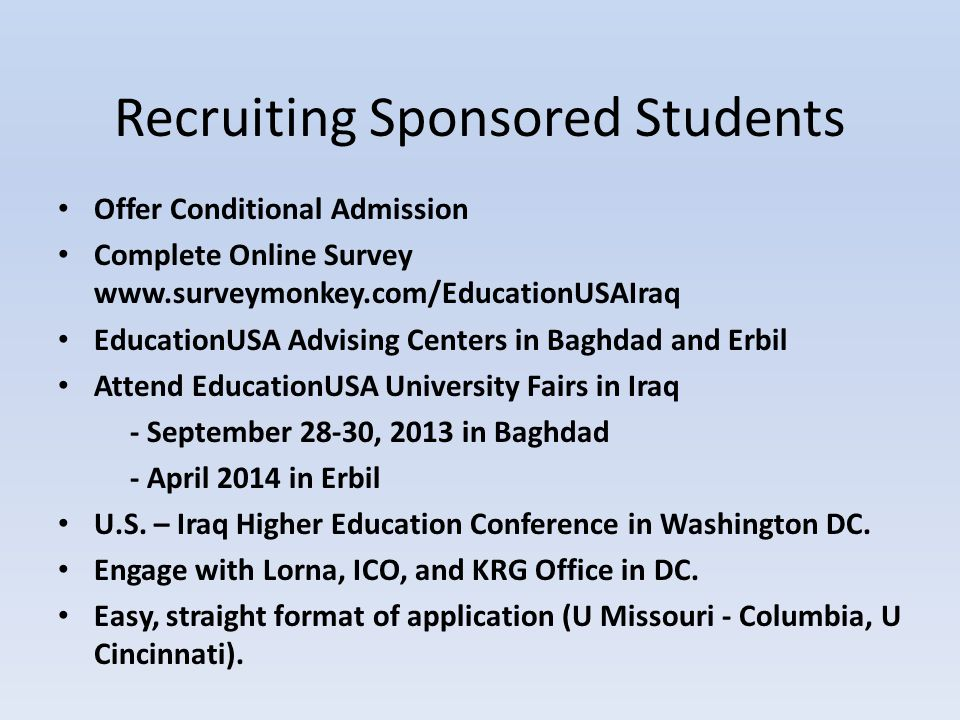 Recruiting Sponsored Students