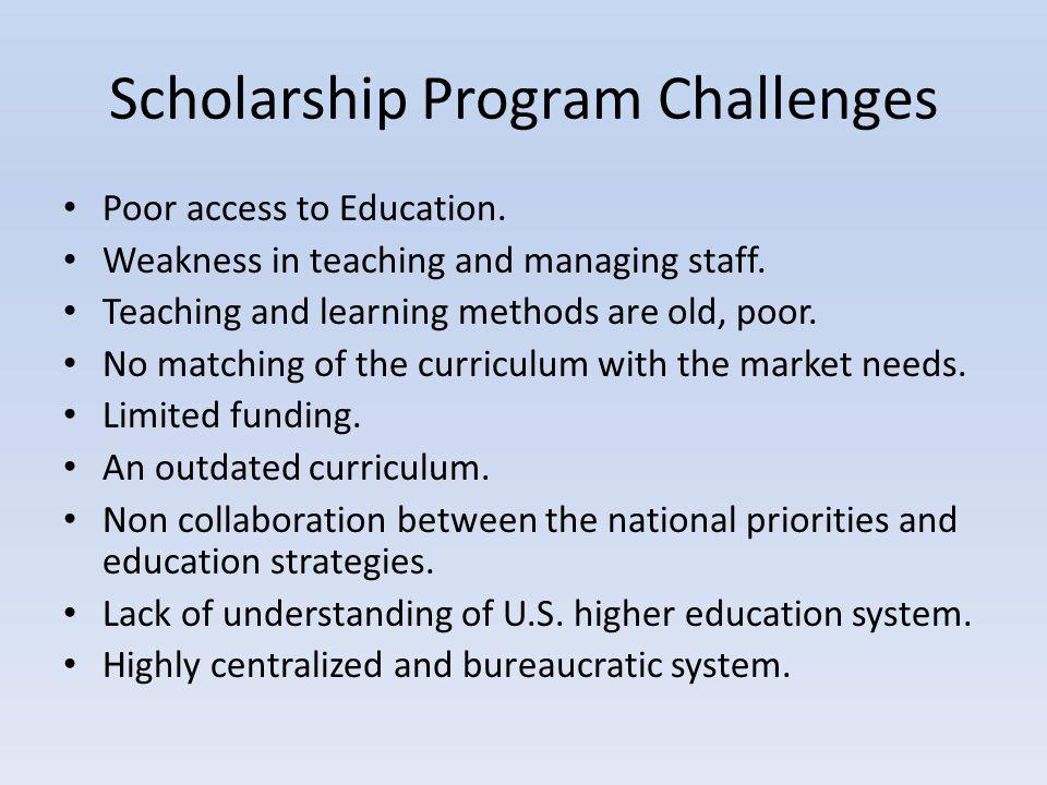 Scholarship Program Challenges