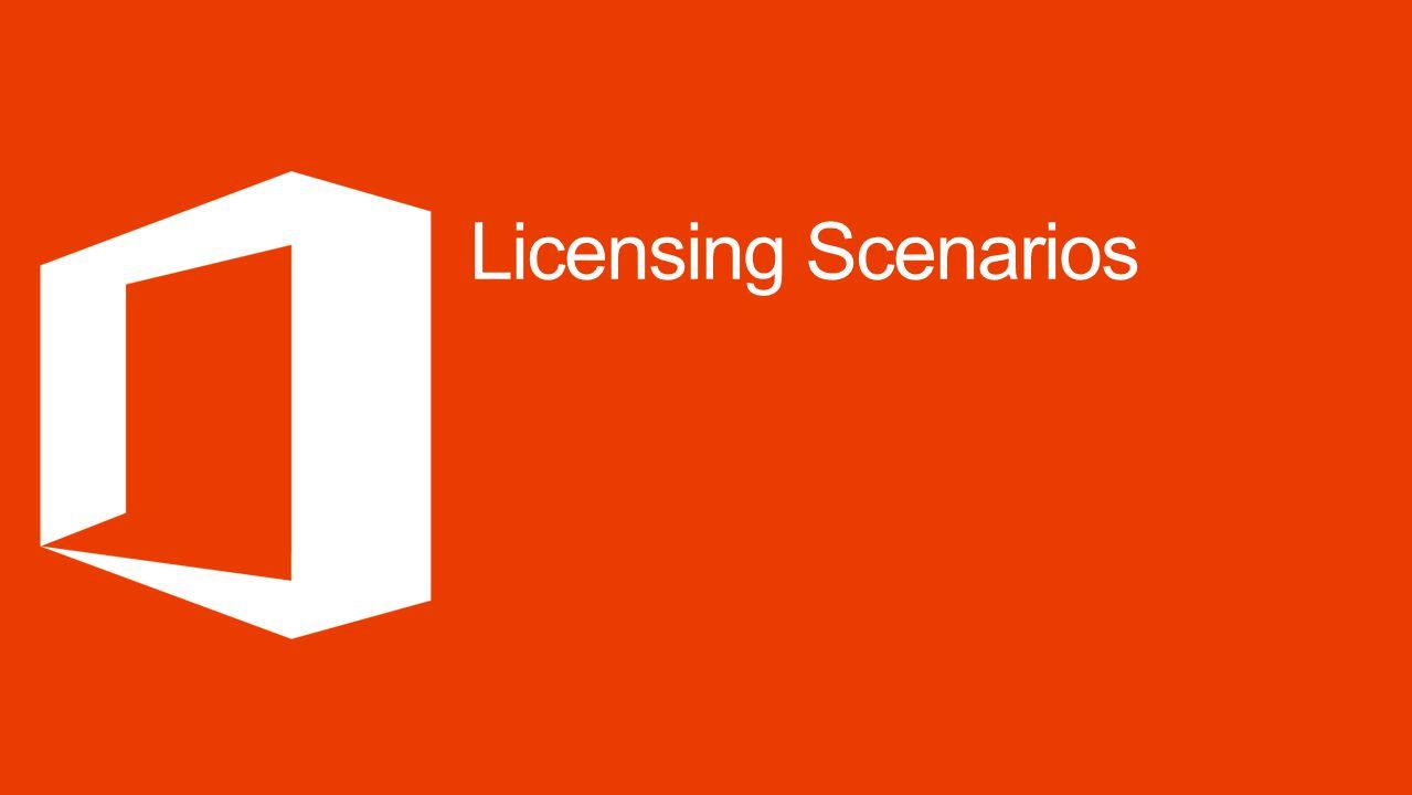 Licensing Scenarios Microsoft Office 4/10/2017