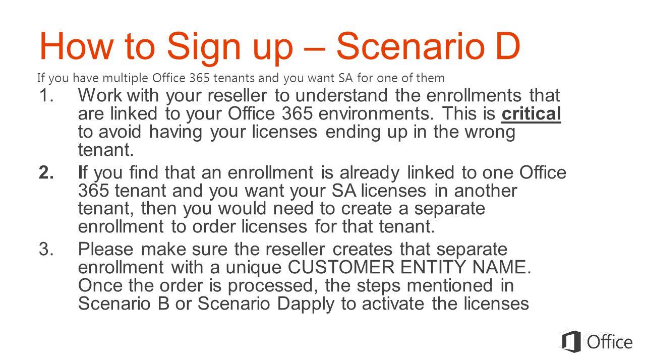 How to Sign up – Scenario D