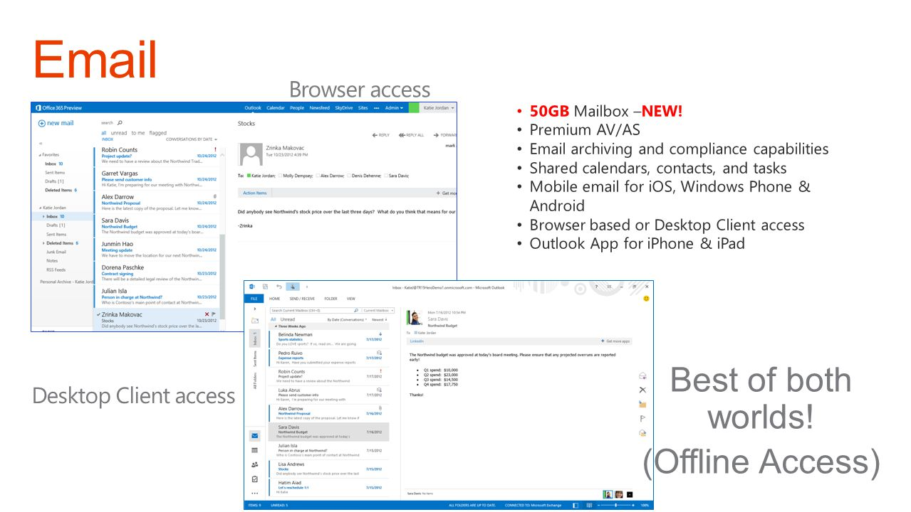 Email Best of both worlds! (Offline Access) Browser access