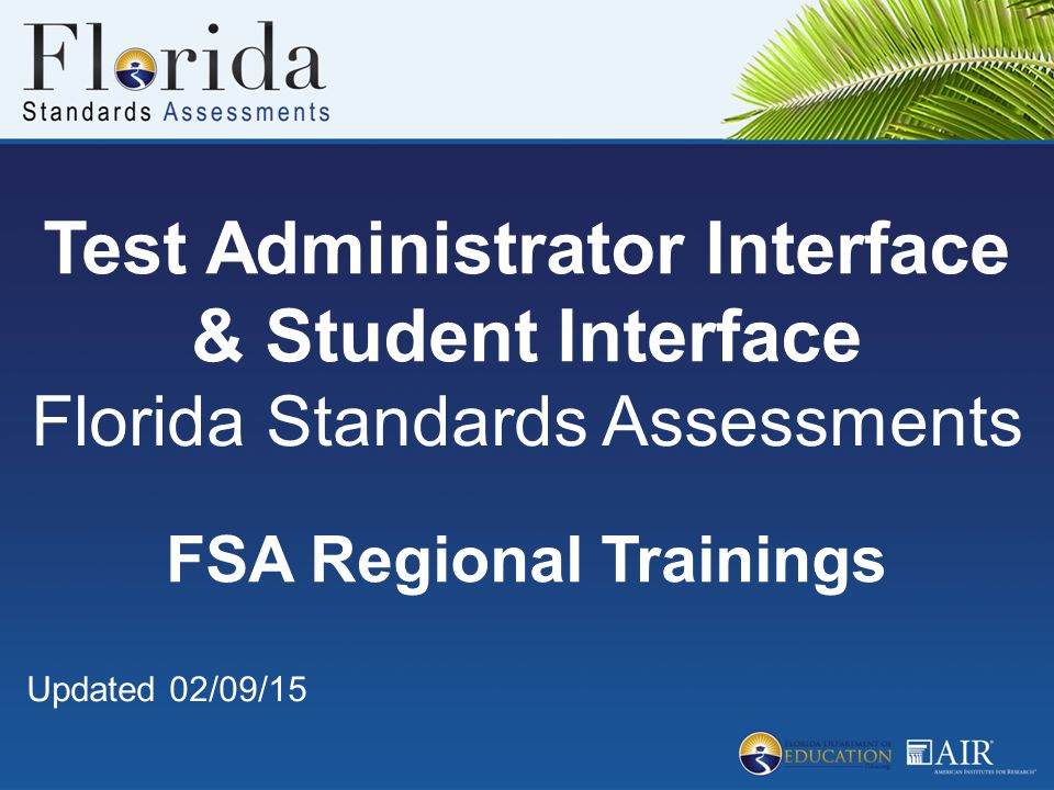 Test Administrator Interface & Student Interface