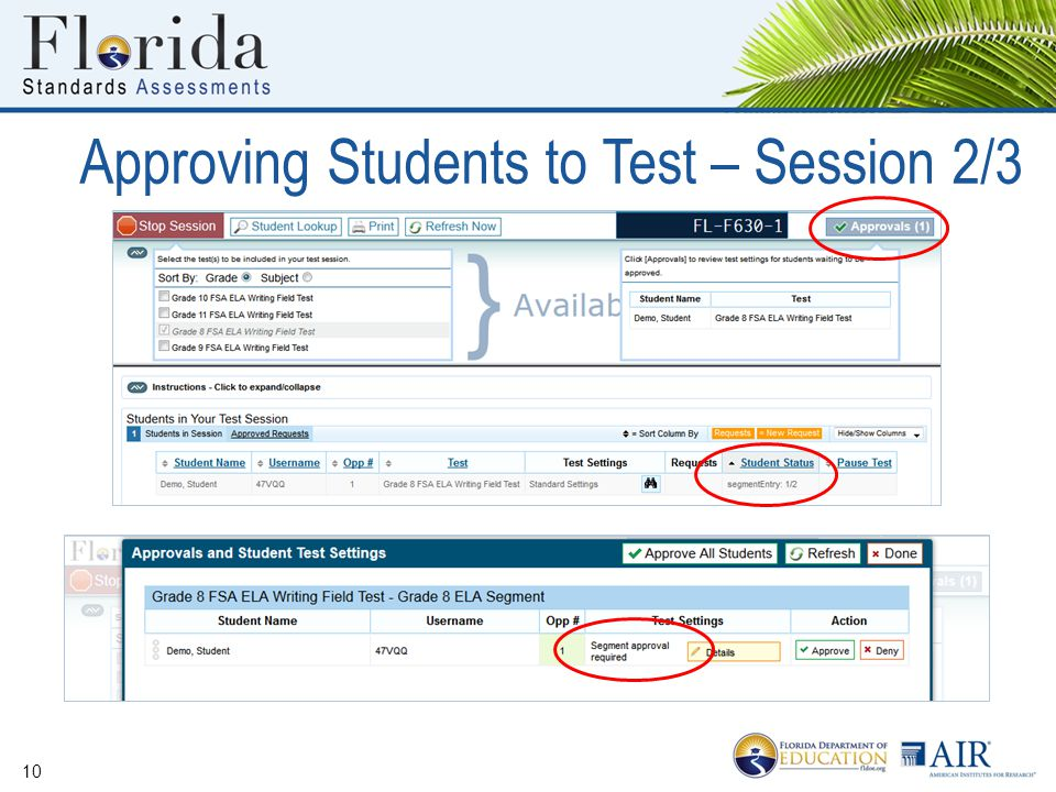 Approving Students to Test – Session 2/3