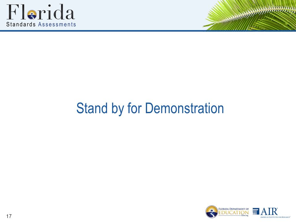 Stand by for Demonstration