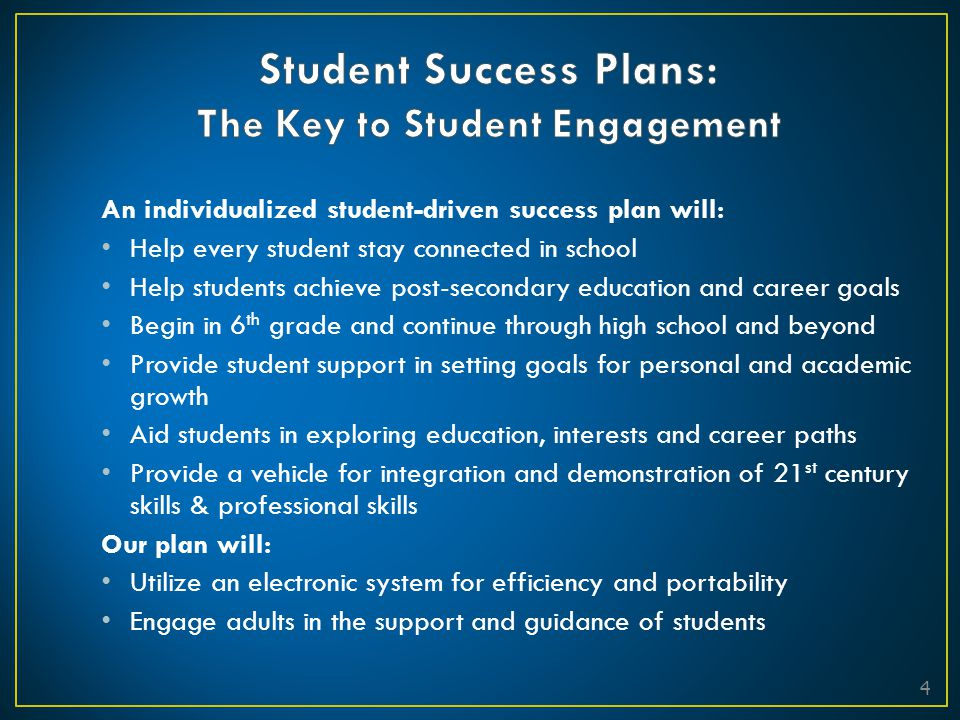 Student Success Plans: The Key to Student Engagement