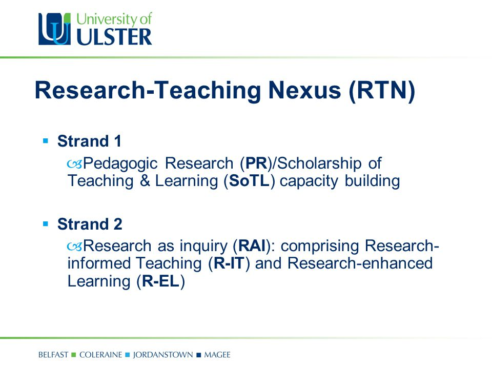 Research-Teaching Nexus (RTN)