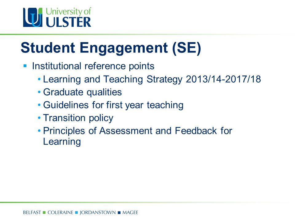 Student Engagement (SE)