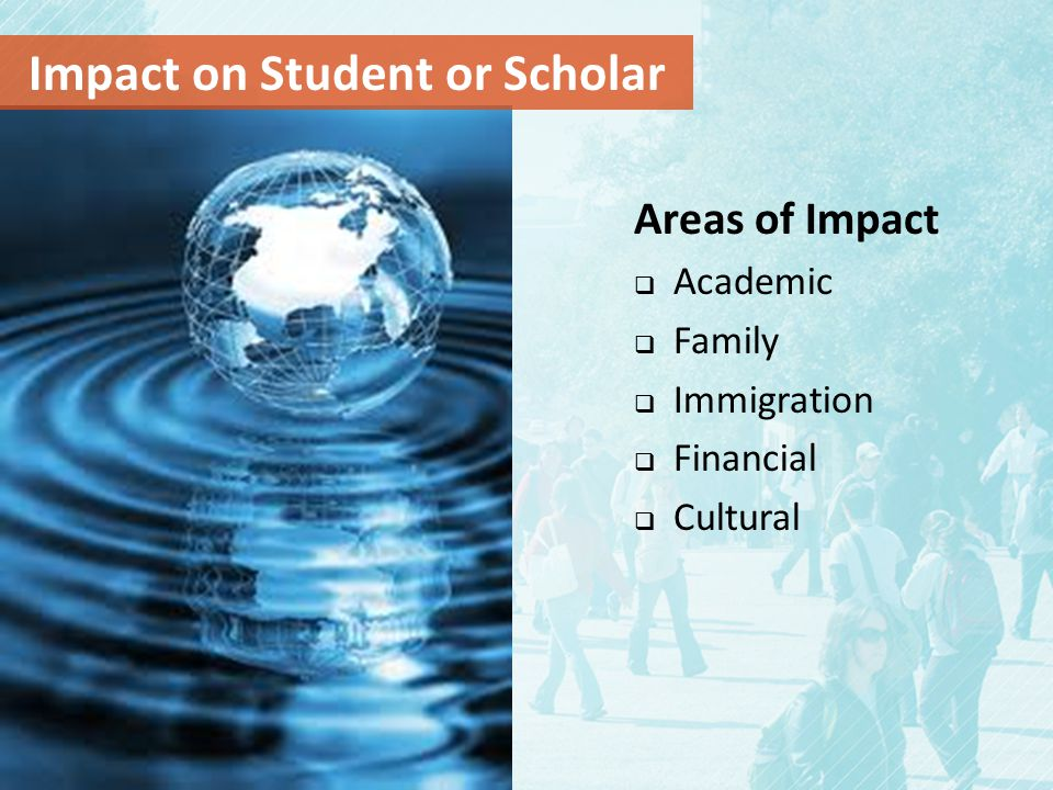 Impact on Student or Scholar