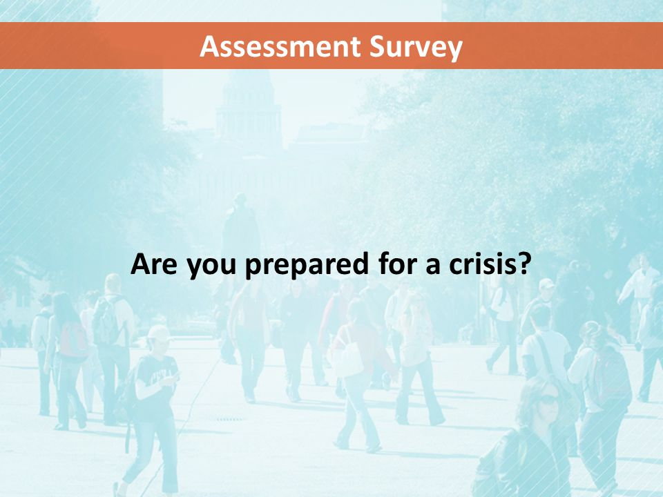 Are you prepared for a crisis