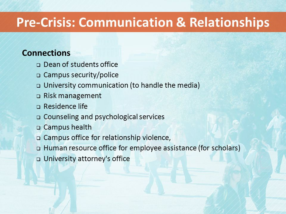 Pre-Crisis: Communication & Relationships