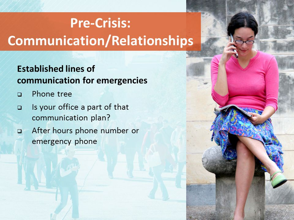Pre-Crisis: Communication/Relationships