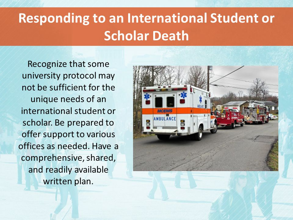 Responding to an International Student or Scholar Death